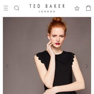 Ted Baker London Scallop Trim Fitted Top